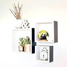 3 wood block square shelves set of 3 wood by block wall cube square shelves set