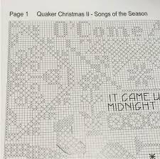 クロスステッチ図案quaker Christmas