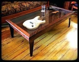 display case coffee table shadowbox table handmade walnut modern style shadow box guitar display case coffee display case coffee table