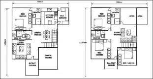 2300 square feet 4 bedroom double story home design and plan