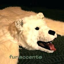 bear fur rug faux polar bear rug small size of white faux polar bear rug white