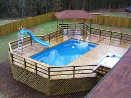 Concept Diy Above Ground Pool Slide Of Swimming Slides And Decor