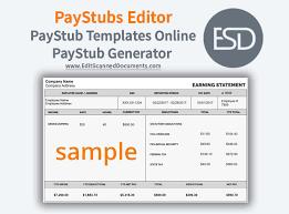 Online Pay Stub Generator Paystubs Editor Paystub Templates Online Paystub Generator