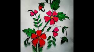 Glass Painting Ideas Designs How To Make Glass Painting Easy Summer Craft Ideas For Kids And Beginners