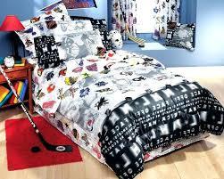 hockey bed hockey bedding twin or hockey montage twin bedding nhl bedding sets canada