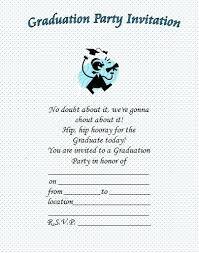 High School Graduation Party Invitation Wording Graduation