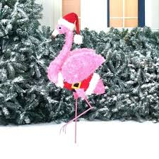lighted flamingo tropical pink