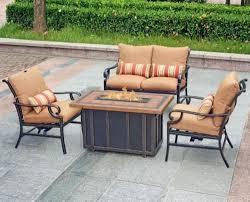 backyard creations fire pit patio set