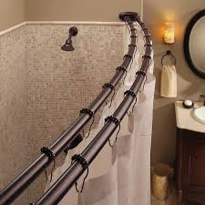 nickel double shower curtain rod