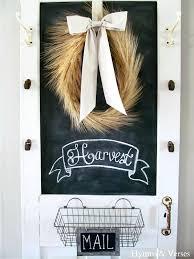 Kitchen Message Center Old Door Chalkboard Pbcedaorg