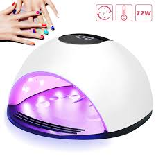 Nail Curing Light Uv Led Nail Lamp Nivlan Professional 72w Nail Dryer For Gels Polishes Nail Curing Light With 4 Timer Setting Smart Automatic Sensor