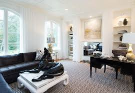 home office rug placement. New York Black And White Houndstooth Rug With Modern Curtains Drapes Home Office Mirrored Fireplace Sheers Placement