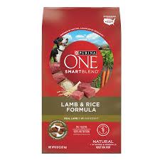purina one smartblend natural lamb rice formula dry dog food 8 lb bag walmart