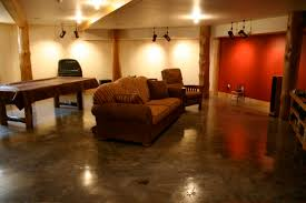 basement lighting options. basement remodeling ideas with traditional decoration using concrete flooring and brown sofa design industrial ceiling lighting options e