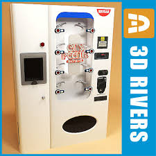 Noodle Vending Machine Cool Cup Noodle Vending Machine 48d Model