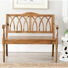 Overstock Living Room Furniture Safavieh Benjamin Oak Bench Amh6500e The Home Depot