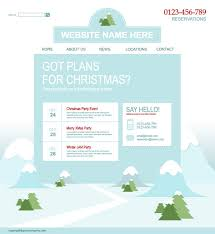 Free Christmas Website Templates 4 Designer Christmas Website Template Vector
