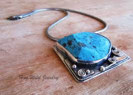 the the handcrafted artisan sterling silver turquoise women s pendant necklace