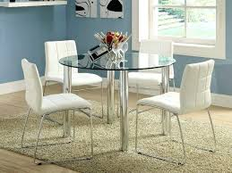 glass dining room table fancy round white kitchen ikea frosted