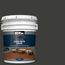 5 Gal Pfc 75 Tar Black Solid Color Flat Interior Exterior Concrete Stain