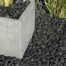 Polished Black Chinese Pebbles 5kg | Departments | DIY at B&Q.