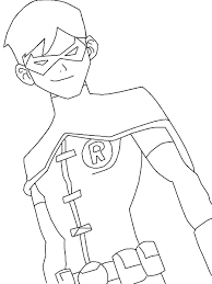 young justice nightwing drawings robin coloring new pages of batman