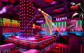 Entertainment place inside led lighting design and project