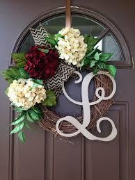initial wreaths for front doorInitial Wreaths For Front Door  Home Design Inspirations