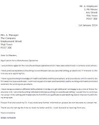 Cv Warehouse Operative Warehouse Operative Cover Letter Example Icover Org Uk