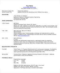 Technical Resume Simple Technical Resume Kazanklonecco