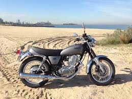 yamaha sr400. yamaha sr400 has an in any sunday moment on the beach at port melbourne during sr400
