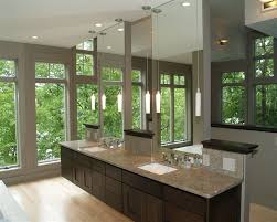 modern bathroom sinks bathroom contemporary with dark wood vanity dual ample shower lighting