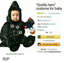 Roll Over Image To Zoom In Gorilla Hero Costume For Baby 11