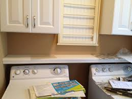 Washer And Dryer In Kitchen Casalupoli Laundry Room Update Over The Washer Dryer Shelf
