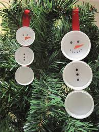 Christmas Decorations Made Out Of Plastic Bottles Appealing image of decorative DIY round white plastic bottle lid 53