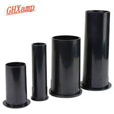 GHXAMP 2 inch 4 inch 6.5 inch Speaker Inverted Tube Port Auxiliary BASS  Subwoofer ABS Loudspeaker Guide Tube 2PCS