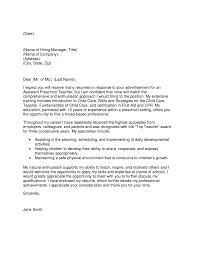 Education Cover Letters Early Childhood Education Cover Letter Ideas