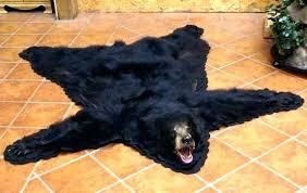 fake bear skin rug with head bear skin rug faux fake bear skin rug with head