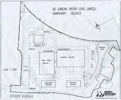 the factory plan of delorean motor cars in dunmurry northern the factory plan of delorean motor cars in dunmurry northern uk
