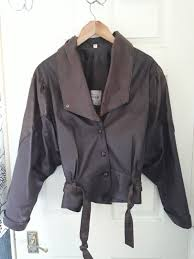 brown soft leather jacket uk size 14 las medium 1 sur 1 voir plus