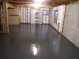 Painting Cement Floors Basement Cement Floor Ideas