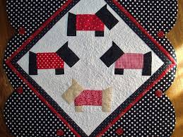 464 best A SCOTTIE QUILT/TEMPLATES images on Pinterest | Baby crib ... & Sunshine in the Attic: Finished Scottie Dog Table Runner and Story! Adamdwight.com