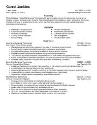 resume maintenance
