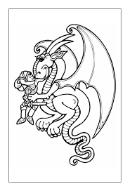 This series of free printable coloring pages is dedicated to the most mysterious of creatures, which may or may not have wandered the earth in the past. Dragon Coloring Pages Coloring Rocks