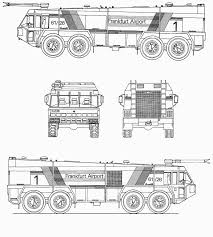 Airport Fire Trucks Coloring Pages