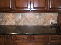 Comfortable Backsplash Ideas For Kitchen Walls With Stove; Captivating  Black Granite Kitchen Counter Tops With Diagonal Cream Stone Tile Kitchen  Backsplash