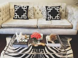 alluring design ideas of acrylic coffee table comes with rectangle shape clear and zebra pattern fur