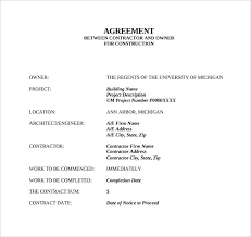 Agreement Templates Business Contract Template Contract Template Between Two Parties Sample Loan Agreement Contract