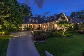 Outdoor Lighting Raleigh Nc Landscape Lighting On White Brick Ranch Greensboro Nc 27455