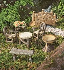 furniture fairy. Main Image For Woodland Fairy Garden Resin Furniture Set